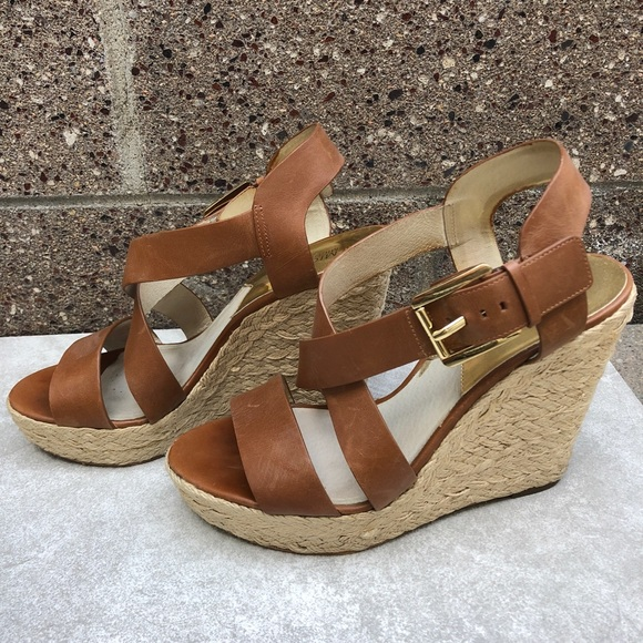 e9be3009c0d Michael Kors Giovanna Leather Espadrille Wedge